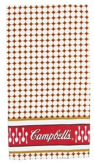 Campbell's Soup Printed Kitchen Dish Towel Tea Towels Set of 4 by Golden Rabbit Campbell's Soup Collection