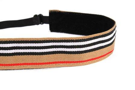 Mavi Bandz Adjustable Non-Slip Fitness Headbands Stripes - Tan