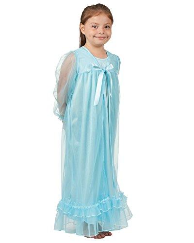 Laura Dare Little Girls Frozen Ice Princess Elsa Long Sleeve Peignoir Set, 3t]()