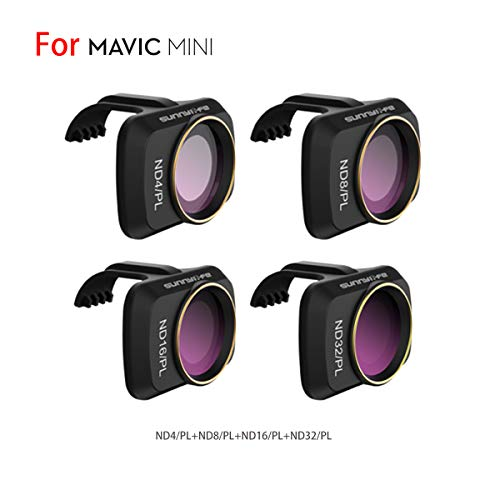 Hurricanes ND/PL Series ND4/PL+ND8/PL+ND16/PL+ND32/PL Lens Fliter 4 Pcs for Mavic Mini