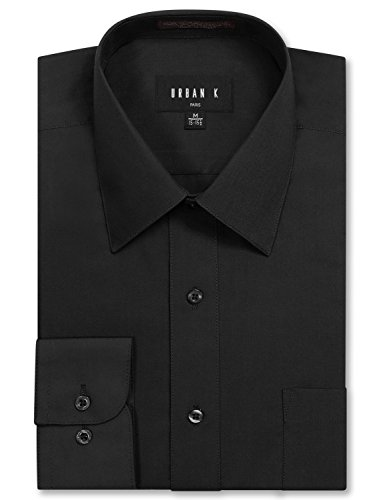 URBAN K Men's Big and Tall Long Sleeve Dress (Big And Tall Formal Wear)