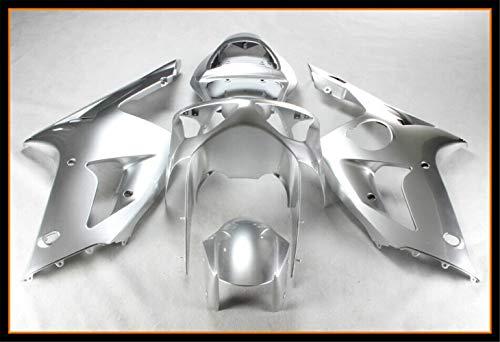 New Silver Fairing Fit for Kawasaki Ninja 2003 2004 ZX6R 636 ZX-6R Injection Mold ABS Plastics Aftermarket Bodywork Bodyframe 03 04