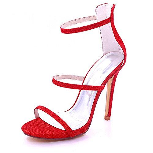 L Las yc De Mujeres La Tacón Del Alto 7216 Corte Red Banquete Zapatos 05c Partido Boda Nupcial gOgqdEr