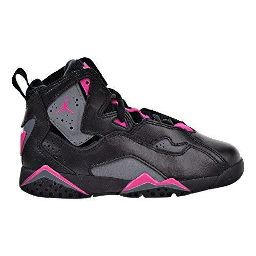 Jordan Kids Air True Flight (Preschool) Black Dark Grey Deadly Pink Basketball Shoes Size 11 (Air Jordan Flight Pink)