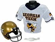 Franklin Sports NCAA Kids Football Helmet and Jersey Set - Youth Football Uniform Costume - Helmet, Jersey, Ch