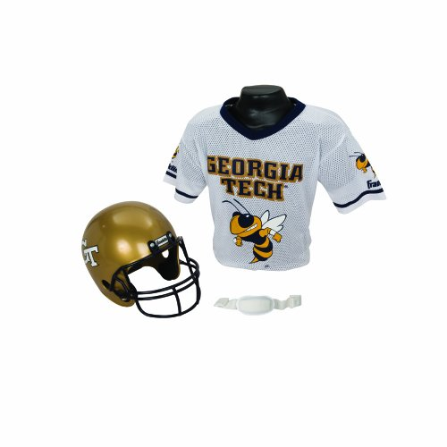Franklin Sports NCAA Georgia Tech Yellow Jackets Helmet and Jersey Set ()