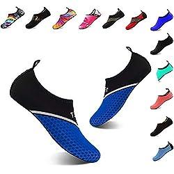 Yalox Water Shoes Women S Men S Outdoor Beach Swimming Aqua Socks Quick Dry Barefoot Shoes Surfing Yoga Pool Exercise D Xb Navy 42 43eu