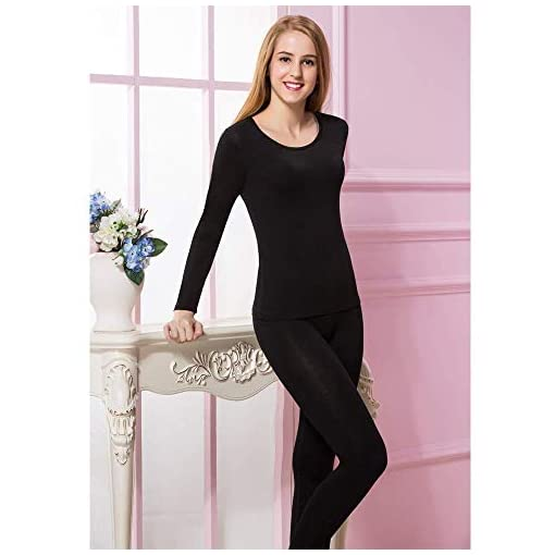 Womens Thermal Underwear Set Top /& Buttom Long Johns Ultra Soft Fleece Lined