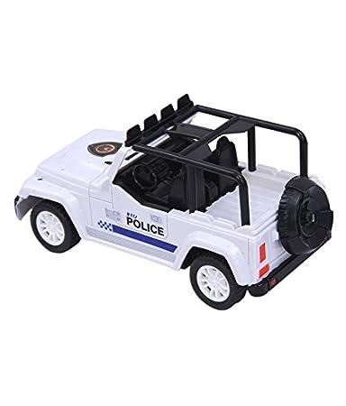 Cop boots lick jeep