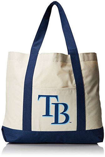MLB Tampa Bay Rays PR Canvas Solid Tote, - Bean Ray