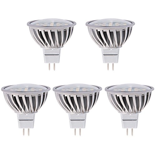 HERO-LED  MR16-24S-NW MR16 GU5.3 LED Halogen Replacement Bulb, 120 Degree Wide Beam Floodlight, 4.8W, 50W Equivalent, Natural White 4000K, 5-Pack(Not Dimmable)