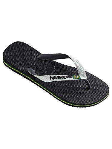 Havaianas Men's Brasil Mix Flip Flops, Black, 7/8 US (39/40 - Buy Havaianas