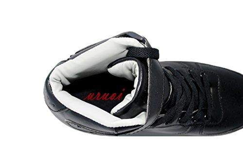 Uruoi Nuovo Logo 11 Effetti Luminosi High-top Light Up Scarpe Sneakers Led Per Donna Uomo Ragazze Ragazzi Natale Halloween Compleanno Parte Nero / Traspirante Plantare