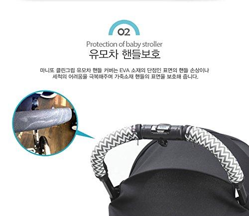Clean Grip BABYZEN YOYO baby stroller handle cover Manito Black Housse de poign/ée poussette b/éb/é
