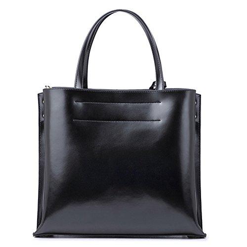 Handbag Leather Black Women black Bag 2 Body School Cross NAWO Shopper Tote Shoulder Satchel wHExq