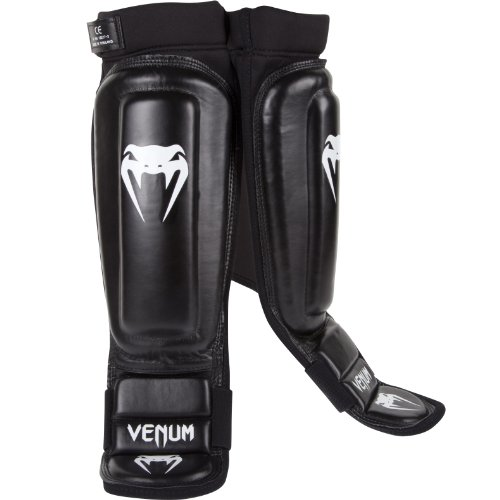 Venum 360 MMA Shinguards, Black, Large