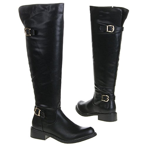Guantes de Mujer, QQ-58, botas Negro - negro