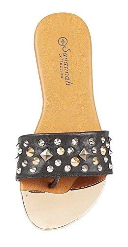 de Bar diseñador Zapatos Mujeres Sandalias punta de del Diseñador planos Adornos Correa verano Rosa Señoras Sudded t4wxq1v5n