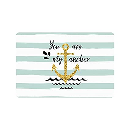 f8e2c9d80733 Amazon.com : InterestPrint Nautical Anchor Quotes on Mint and White ...