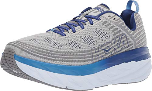 HOKA ONE ONE Mens Bondi 6 Blue/Frost Gray Running Shoe - ()