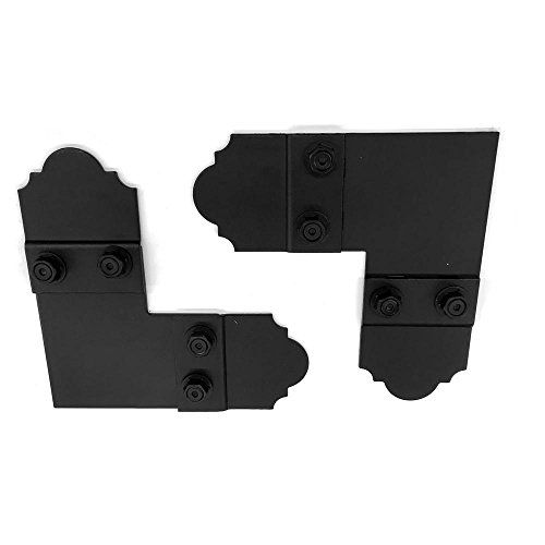 Wood Connector Plate 5 in. 90 Black Galv. With Laredo Sunset Truss Accents (2 sets per box)