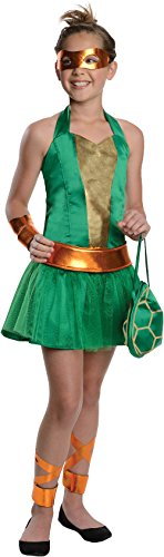 Teenage Mutant Ninja Turtles Sassy Tween Girl's Michelangelo Costume, Small -
