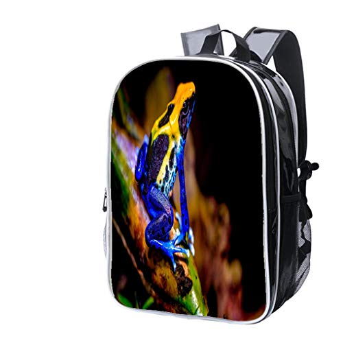 High-end Custom Laptop Backpack-Leisure Travel Backpack Colorful Dyeing Dart Frog or Poison Arrow Frog Water Resistant-Anti Theft - Durable -Ultralight- Classic-School-Black ()