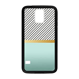Teal Fade Gold Stripe Zebra Print Design Cases for Samsung Galaxy S5
