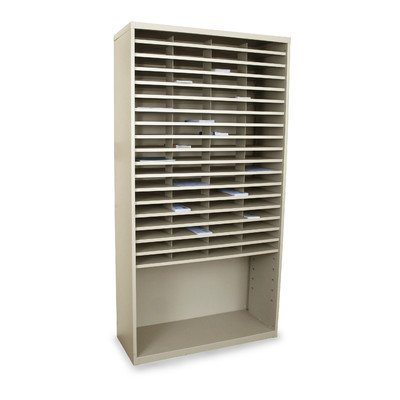 Mailroom Horizontal Sorter with 72 Pockets Finish: Putty