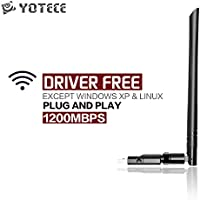1200Mbps USB Wifi Adapter YOTECE dongle Wireless Network wifi 3.0 Dongle Adapter for WIN 7 /8 / 8.1 /10 Mac OS X 10.7-10.12.4
