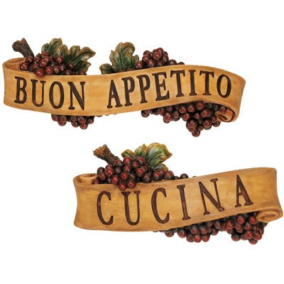 Design Toscano Abbondanza Sculptural Wall Plaque (Set of 2)