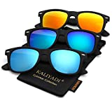 Polarized Sunglasses for Men and Women Matte Finish Sun glasses Color Mirror Lens