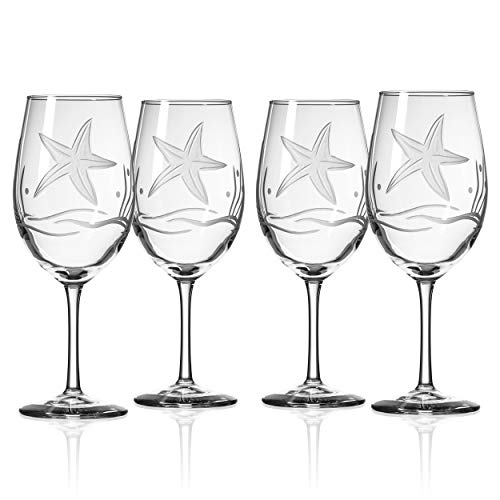 Rolf Glass Starfish White Wine Glass, 12 oz, Clear