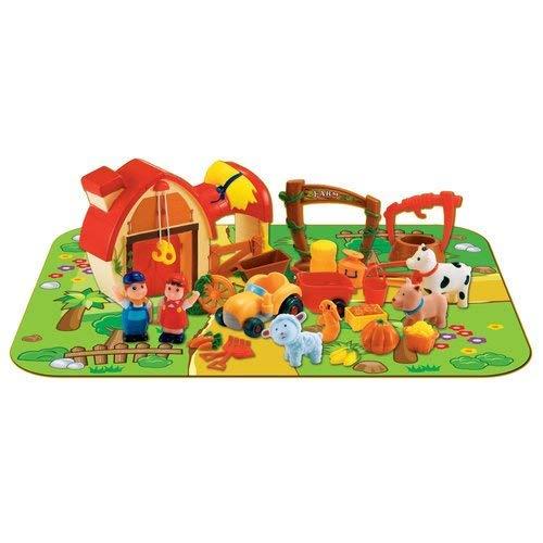 Pavlovz 24Pc Farm Playset with Playmat