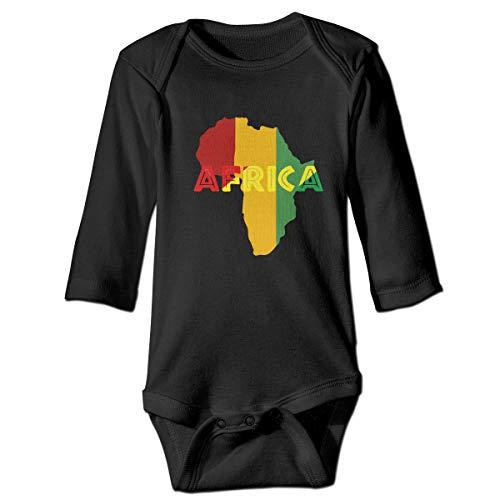 Thoreau Holmes Africa Map Rasta Color Baby 100% Cotton Essentials Long-Sleeve Bodysuits Jumpsuit Clothes ()