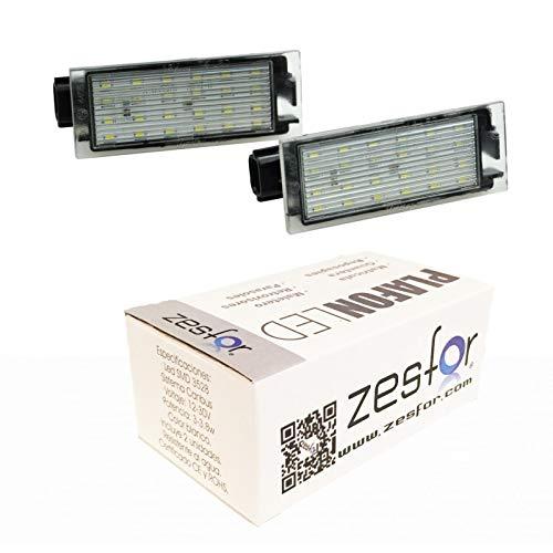 Zesfor Luces de matr/ícula LED para Renault Megane III 2008-