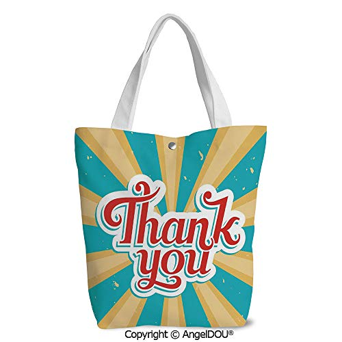 Shopping bag Cool Tote Canvas bag for Women Retro Vintage Antique Look Thank You