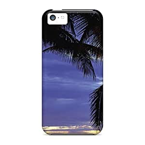 Diy iphone 5 5s case Case Cover, FashionableIphone 5 5S - Nature Plants Palm Trees At Sunset