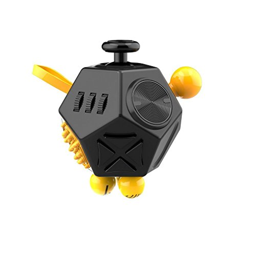 Fidget Cube II Gift Toy Anxiety Stress Relief For Adults Gift Toys (Black) -