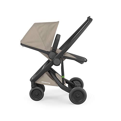 Greentom Reversible Baby Stroller Lightweight Travel System (Black Frame, Sand)