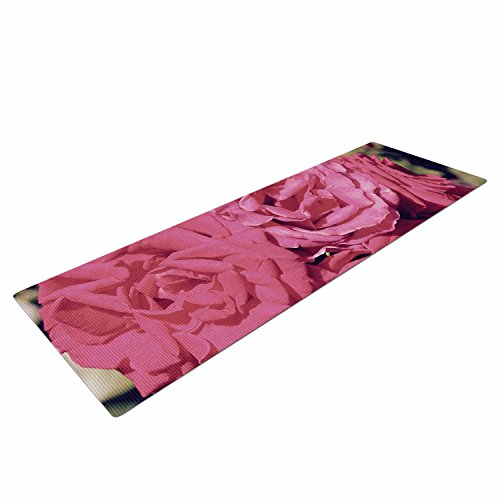 Kess InHouse Susan Sanders Blush Pink Blooming Roses Yoga Exercise Mat, 72″ x 24″, Floral Review