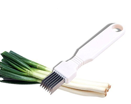 STONCEL Tool Slice Cutlery Kitchen Onion Vegetable Cutter Sharp Scallion Cutter ()