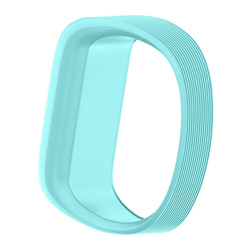 Price comparison product image Owill Small Size Replacement Wrist Band Silicone Band Clasp For Garmin Vivofit JR Watch (Sky Blue)