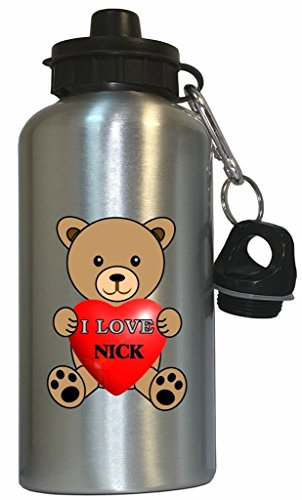 Price comparison product image I Love Nick Water Bottle Silver