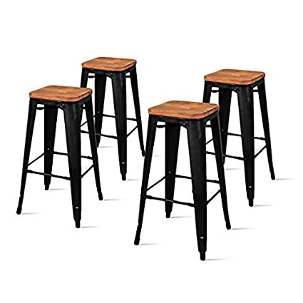 Strange Amazon Com Avyan Aari Furniture Premium Black Bar Stool Set Gmtry Best Dining Table And Chair Ideas Images Gmtryco