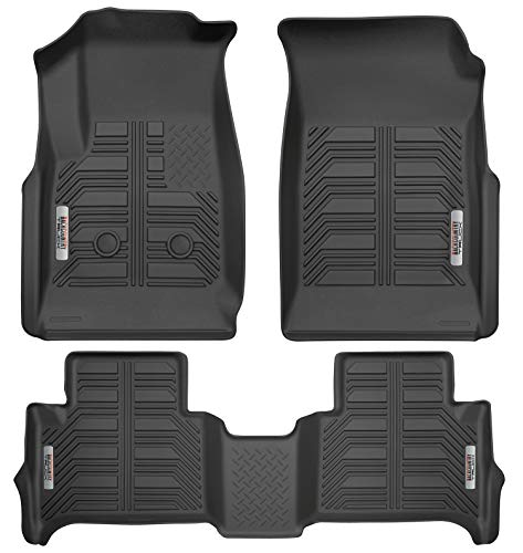 2017 Exclusive Car Mats - BackCountryTruck Front and 2nd Row Floor Mats for 2015-2019 Chevrolet Colorado GMC Canyon Crew Cab