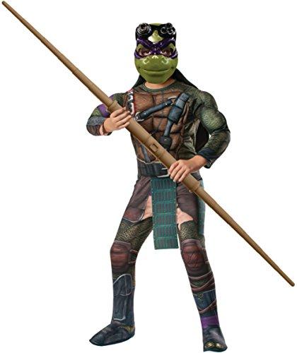 Kids Deluxe Teenage Mutant Ninja Turtles Donatello Costume Bundle Medium (Custom Tmnt Costumes)