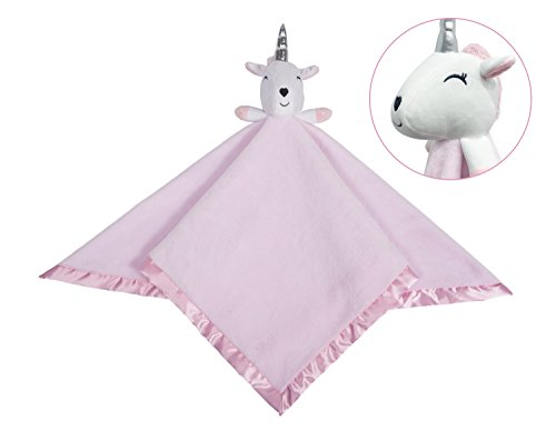 (softan Unicorn Security Blanket,Plush Flannel Toddler Baby Toy Throw,Great Gift Kids,30