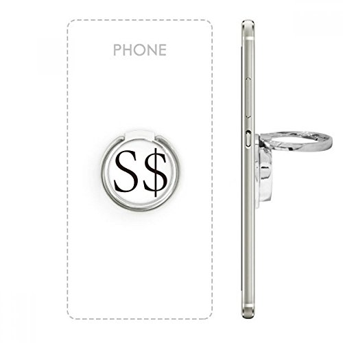 Currency Symbol Singapore Dollar Metal Rotation Ring Stand Holder Bracket for Smartphones Cell Phone Support Accessories Gift