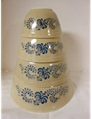 Vintage Pyrex Homestead Mixing Bowls Set Of 4